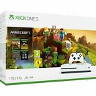 Microsoft Xbox One S 1TB White Console with Minecraft Holiday Bundle