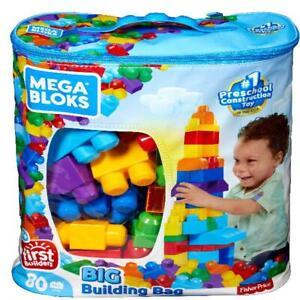 Building-First-Classic-Big-Bag-80-Piece-Set-Mega-Builders-Bloks-Toy-Blocks-Kids