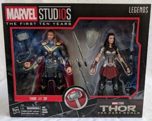 "Marvel Legends Thor /& Sif Marvel Studios 10th anniversaire 6/"" The Dark World Set"