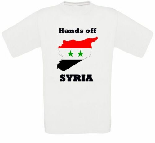 Hands off Syria Syria Peace No Was Anti-war Assad T-Shirt all Sizes New
