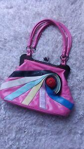 vera Kitch Grab in Vintage insolito stile Bag Clutch eccentrico pelle Arcobaleno borsa K1JcFl