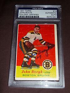 57-58-Topps-10-John-Bucyk-Rookie-Auto-PSA-DNA-Autograph-RC-Signature