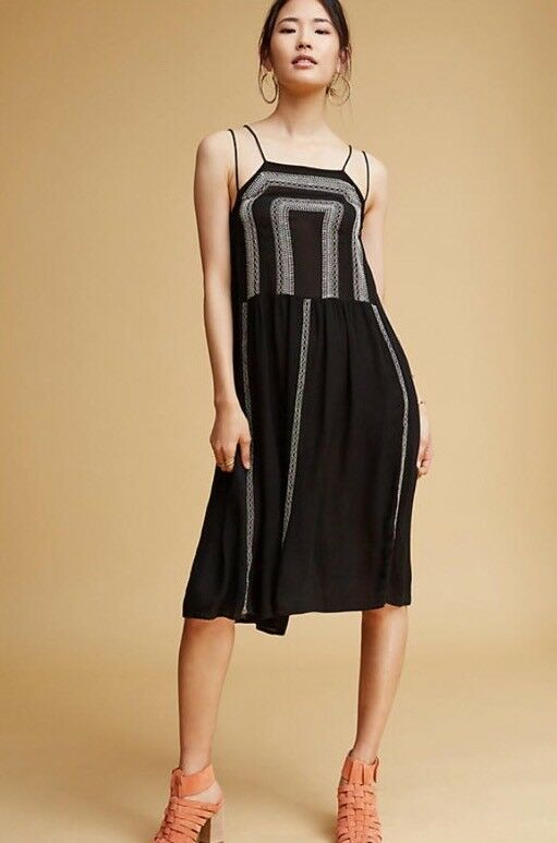 NWT  Anthropologie Galiana Embroiderot Dress Größe Small 42 Large