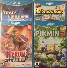 Wii U Lot Sealed Pikmin 3,Hyrule Warriors,Nintendo Land,Transformers Prime