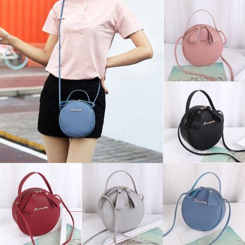Fashion Women Simple Design Mini Round Shoulder Handbag Messenger Crossbody