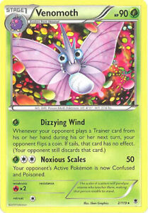 3-x-Pokemon-Card-XY-Phantom-Forces-2-119-VENOMOTH-rare-NM-Mint
