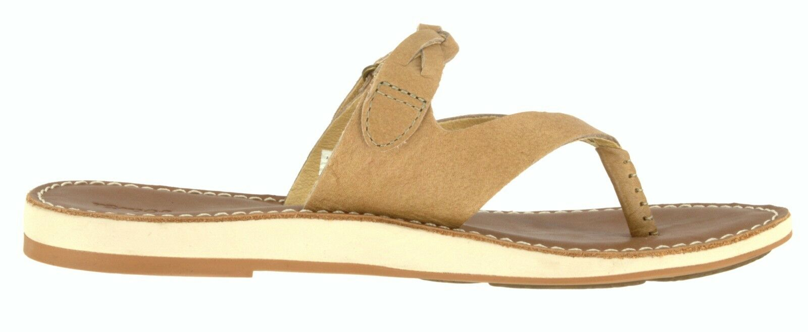 OLUKAI SAMPLE 20353 WOMEN'S KAHIKOLU LEATHER LEATHER LEATHER FLIP FLOP THONG SLIDE SANDAL US 7 3ad5d2