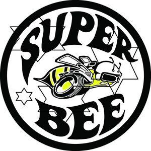 VINTAGE-DODGE-SUPER-BEE-DECAL-STICKER-LABEL-LARGE-250MM-HOT-ROD