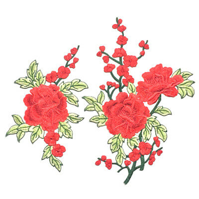 Embroidery Rose Flower Sew On Patch Badge Jeans Dress Applique Craft for Clothes