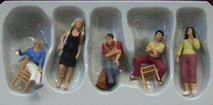 Preiser 65361 pour Piste 0 1:43 Assis et Debout Figurines
