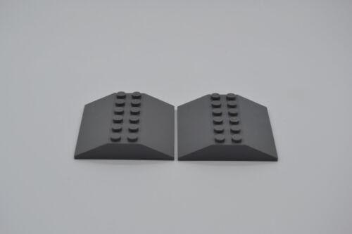 LEGO 2 x Dachstein neues dunkelgraunewdark grey roof tile brick 6x6 4509
