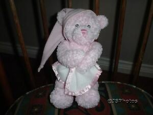 Gund Pink Baby Bear Nighty Night Musical Moving 8 Inch 2004