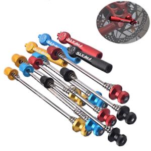 MTB-Road-Bike-Wheel-Locking-Security-Quick-Release-Skewers-Anti-Theft-Skewer-Set