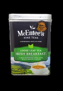 McEntee's IRISH Loose Breakfast Tea 500g TIN- BLENDED IN IRELAND- Ceylon & Assam