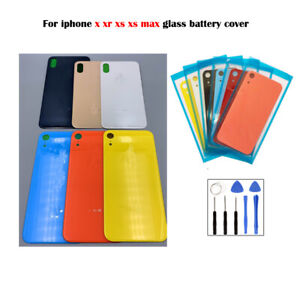 For-iPhone-X-iPhone-XS-XS-Max-XR-Battery-Glass-Cover-Housing-Back-Door-Repair