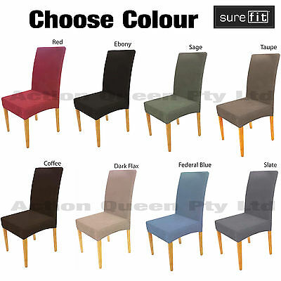 SUREFIT dining chair covers stretch pearson cord 8 colours available