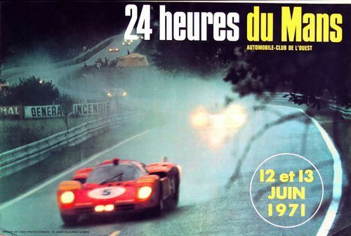 1971 Le Mans Motor Racing  Poster A3 Print
