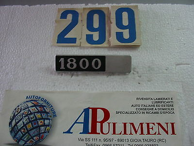 "POSTERIORE LANCIA BETA ""1800"" IN PLASTICA BADGE 463 FREGIO-LOGO-SIGLA-SCRITTA"