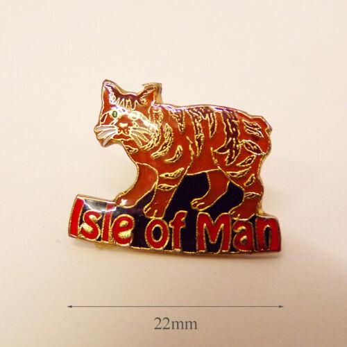 Isle of Man Manx Cat Metal Pin badge
