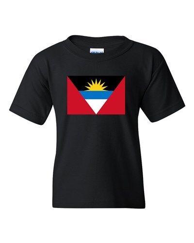 Antigua Barbuda Country Flag St John Nation Patriotic DT Youth Kids T-Shirt Tee