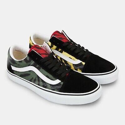 Vans Old Skool Men's Skate Shoes size 13 Rasta Tie Dye | eBay