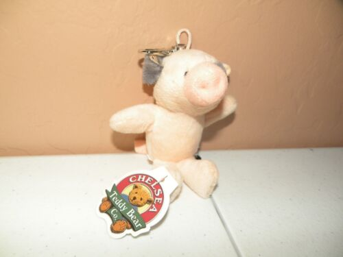 Chelsea Teddy Bear Co Pig KEY TAG Stuffed Plush animal Key Chain New