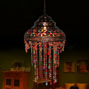 Vintage Tiffany Style Pattern Stained Glass Chandelier ...