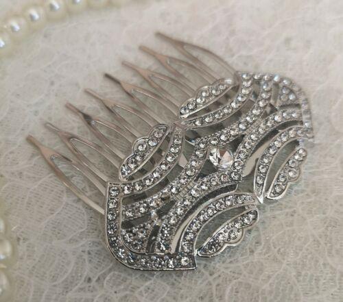 """/""""ADA/"""" Art Deco Style Vintage Cristal Mariée Cheveux Peigne années 1920 demoiselle d/'honneur à clapet"""