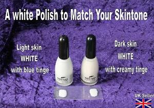 Image Is Loading SKIN TONE MATCH White NAIL POLISH Tip Varnish