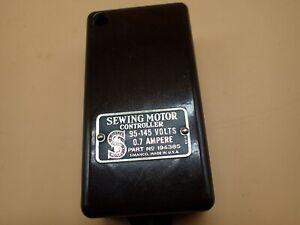 Vintage-Singer-Sewing-Machine-Sewing-Bentwood-Case-Motor-Controller-194385