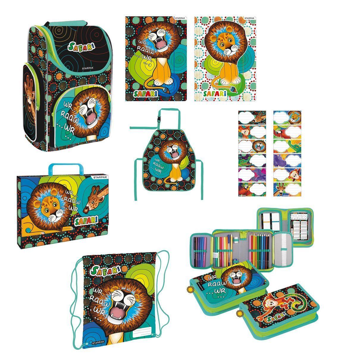 Safari Dschungel wilde Tiere Schulranzen Set 9-teilig NEU Schule Bag School Löwe   Nutzen Sie Materialien voll aus    Zu verkaufen    Gewinnen Sie das Lob der Kunden