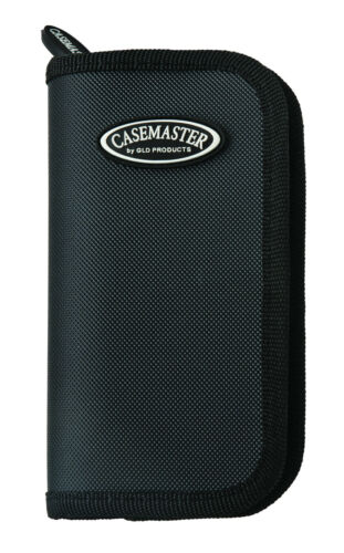 36-0802-01 Casemaster Deluxe Black Nylon Dart Case for darts flights shaft tips