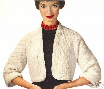 Vintage Knitting PATTERN to make Bolero Jacket Sweater Shortie KnitKnotBolero