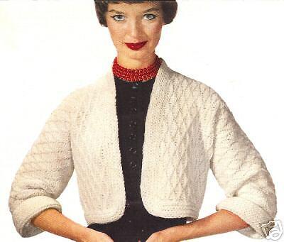 Vintage Knitting PATTERN to make Angora Shortie Jacket Prom Bolero AngoraJacket