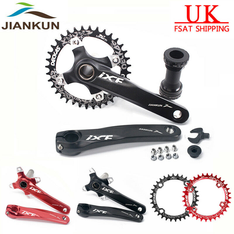 104bcd MTB Bike Chainset 170mm Crank set + BB + Chainring 32 34 36 38T Crankset
