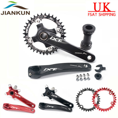 104bcd MTB Bike Chainset 170mm Crank set BB Chainring 32 34 36 38T Crankset