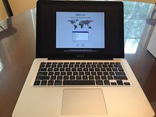 APPLE MACBOOK PRO MID 2010 USED 13 INCH LAPTOP 2.4 GHZ 250 GB HARD DRIVE.