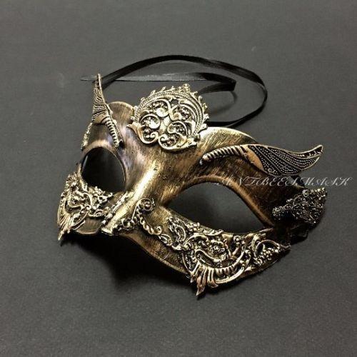 Black Gold Rome Warrior /& Burnished Masquerade Halloween Prom Ball Mask