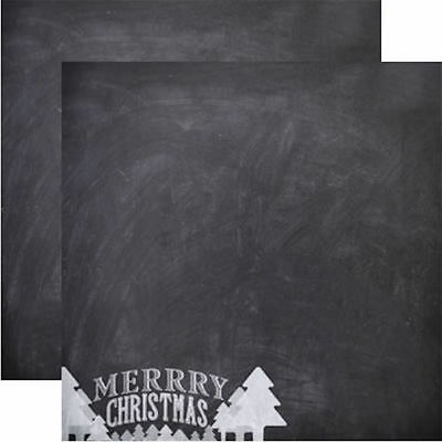 Scrapbooking Papers Reminisce CHALKBOARD CHRISTMAS 12x12 Dbl-Sided 2
