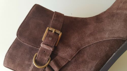 Ralph us Suede Ankle Brown Uk5 By 7b Boots Size Lauren RFAgx