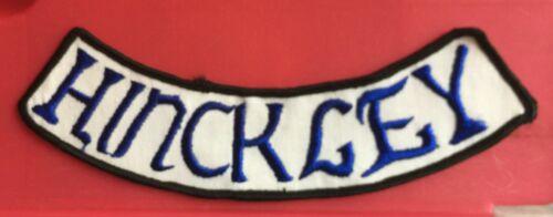 Vintage 1960/'s Hinckley Bottom Rocker Biker Vest Hipster Jacket Patch Crest 040L