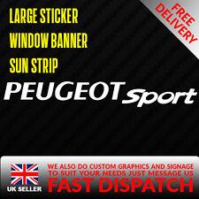 PEUGEOT SPORT PUG Sticker Badge for Sun strip Vinyl Decal Banner Sponsor Visor