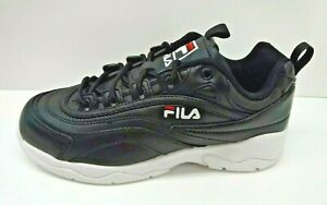 Fila-Size-8-5-Black-Leather-Sneakers-New-Womens-Shoes