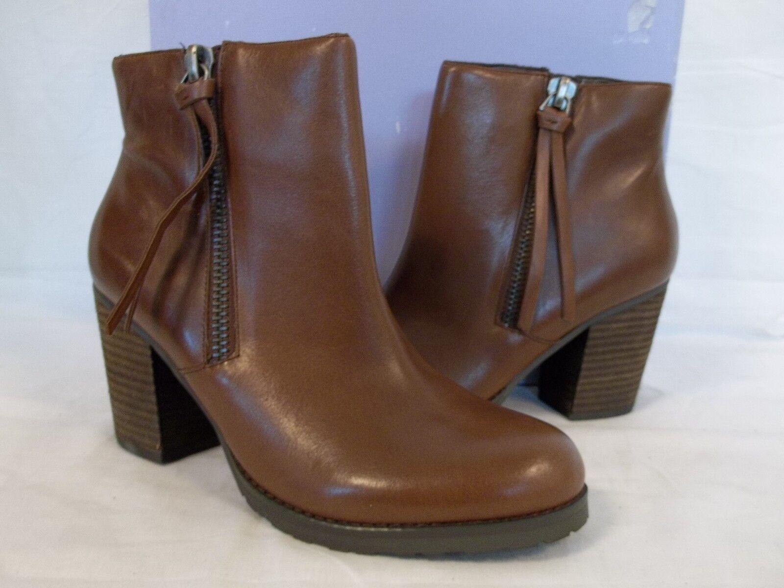 Marc Fisher Fisher Fisher Talla 8.5 M Inclinado De Cuero Marrón botas al Tobillo Zapatos para mujer Nuevo  te hará satisfecho