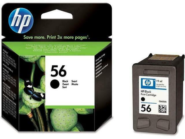 1 x Genuine HP56 Black Ink Cartridge For HP5650 9600 9680 PSC2410 PSC2510