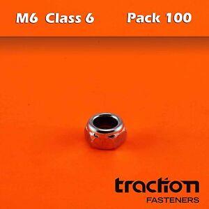 M6-Nyloc-Nut-Hexagon-Class-6-Metric-6mm-Hex-Zinc-Plated-Nylon-Insert-Lock-YI01