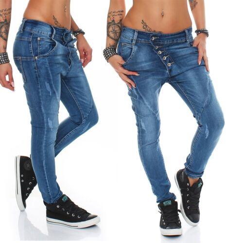 Coole Damen Jeans Hose Boyfriend Haremsjeans Röhre Damenjeans Pants Übergrößen
