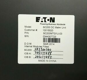 EATON-DC-Meter-Unit-Model-SC200-DC