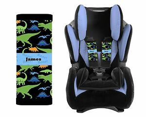 Image Is Loading PERSONALIZED BABY TODDLER CAR SEAT STRAP COVERS DINOSAURS