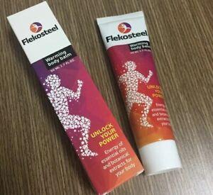 Flekosteel warming body balm for joints muscle high loads..